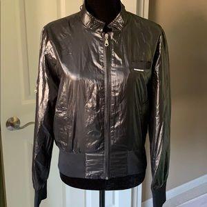 Vintage Members Only Black Bomber Jacket XL